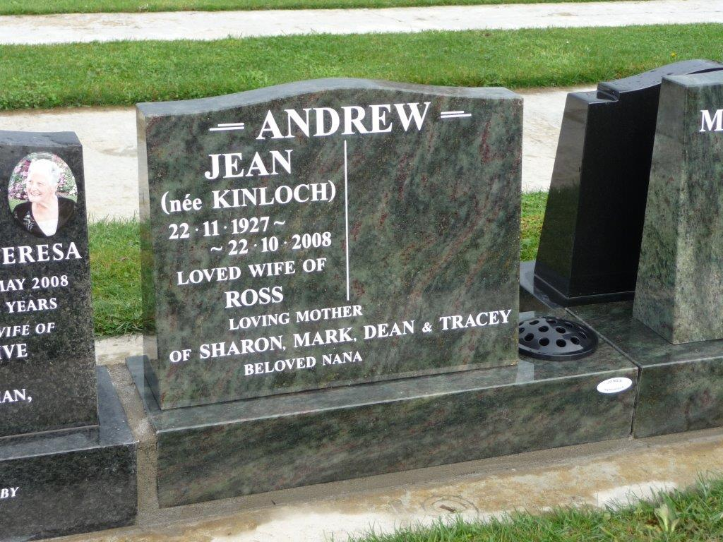 Andrew cremation memorial