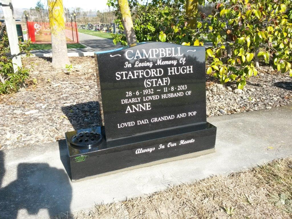 Campbell cremation memorial