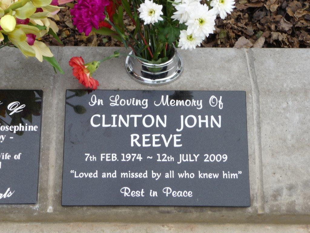 Reeve lawn plaque