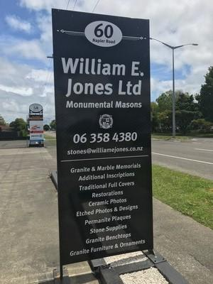 Palmerston North Monumental Mason - William E Jones Ltd